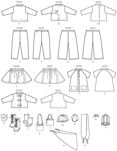 McCall Pattern Company M7006 Clothes for 18-Inch Doll
