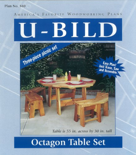 (U-Bild 840 Octagon Picnic Table Set Project Plan)