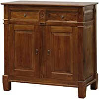 NES Furniture Nes Fine Handcrafted Furniture Solid Mahogany Wood Milan Buffet Cabinet - 39', Light Pecan