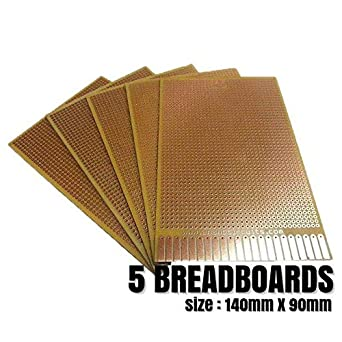 AnandCircuits PCB (FR2 - A Grade Material) (Set of 5) (140mmx90mm)General  Purpose Printed Circuit Board-Strip-board, Breadboard DIY