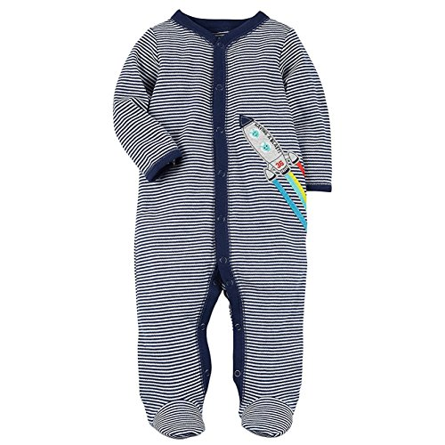 Carter's Baby Boys' Striped Snap Up Rocket Sleep And Play 3 Months