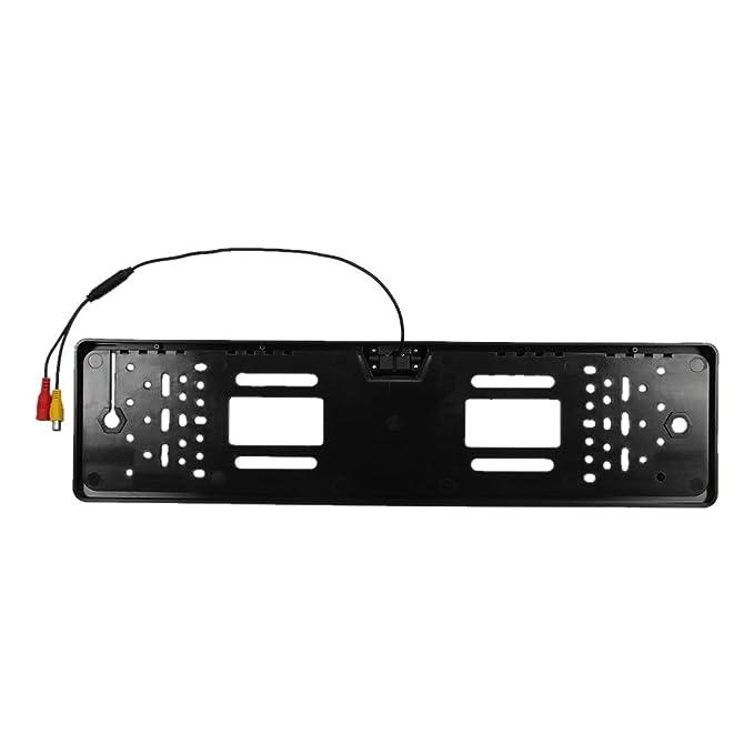 Camara trasera - SODIAL(R) Camara trasera inalambrica Sensor de aparcamiento placa de numero inalambrico 170 grados IP67: Amazon.es: Coche y moto