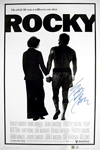 Sylvester Stallone Signed Rocky Movie Poster