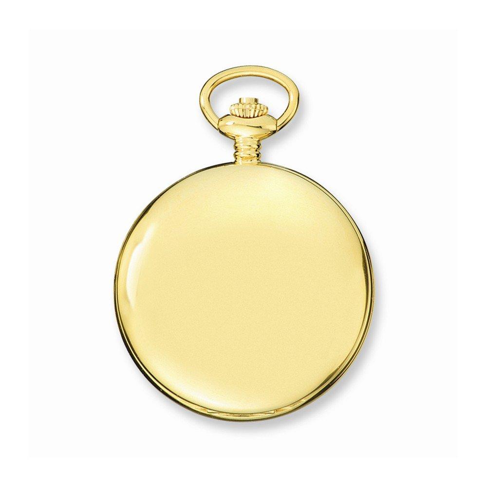 Charles Hubert IP-pltd Stnlss Stl White Dial Pocket Watch