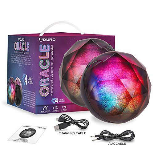 Aduro-LED-Bluetooth-Speaker-with-Pulsating-Lights-Sphere-Shaped-Wireless-Color-Changing-Portable-Outdoor-Party-Speaker-Universal