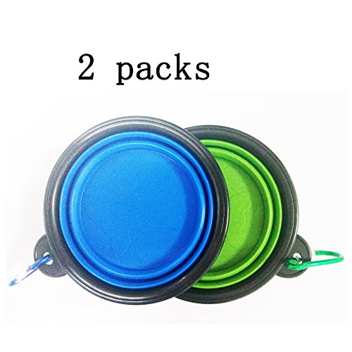 2-Packs-of-Dog-Bowls-Collapsible-Travel-Bowl-Water-Feeder-Bowls-for-Pets-Free-Carabiner-Food-Grade-Silicone-Environmental-Protection-MaterialBest-Gifts-for-Your-Pets