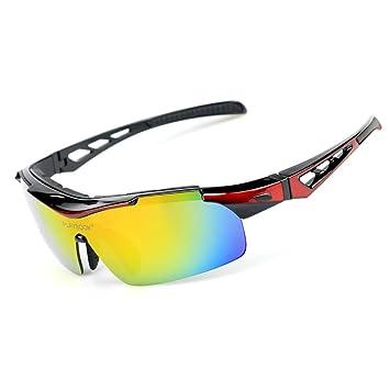 Männer und Frauen Polarisierende Anti-Uv Sonnenbrillen Outdoor Sports Goggles Fahrrad Gläser für Skifahren Klettern und Reiten , black and blue