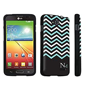 DuroCase ? LG Optimus L90 Hard Case Black - (Black Mint White Chevron N)