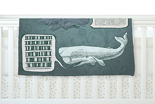 KESS InHouse Sophy Tuttle Whale Talk Fleece Baby Blanket 40 x 30 [並行輸入品]   B0785Q6V7H