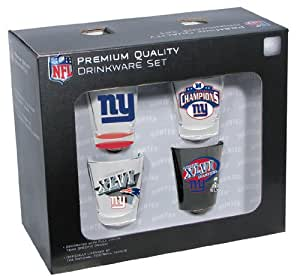 NFL New York Giants 2011 Super Bowl XLVI Champions 4-piece Collector Set