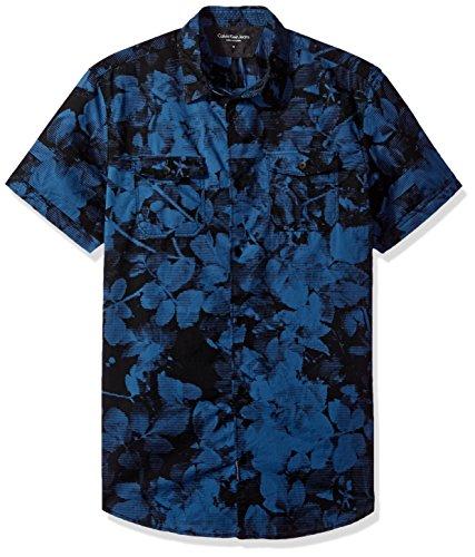 Calvin Klein Floral Shadow Print Hemden Button-Front XL Herren