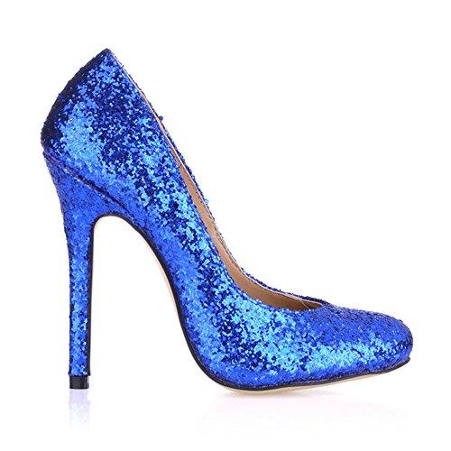 Taste the spring round head fine high-heel shoes black varnished leather shoes . Blue Chip AQT60O