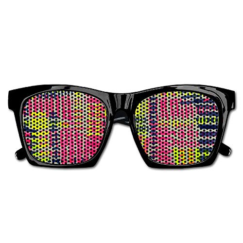 Xing Stars Colorful Summer Unisex Knitting Style Color Lines Fashion Party Costume Sunglasses by Xing Stars