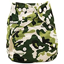 Happy Cherry Baby One Size Cloth Diaper Cover Snap for Prefolds, Camouflage