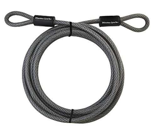 (Master Lock Cable, Steel Cable With Looped Ends, 15 ft. Long, 72DPF)