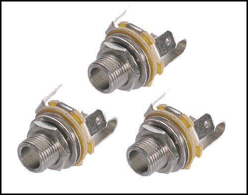 "3-pack Neutrik Long-shaft 1/4"" Mono Guitar Jacks"