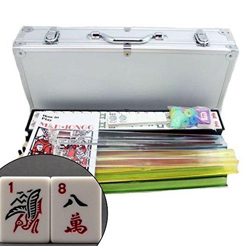 4 Pushers + Brand New Complete American Mahjong Set in Aluminum Case, 166 Tiles(mah Jong Mah Jongg Mahjongg) by Kai Tai Inc.