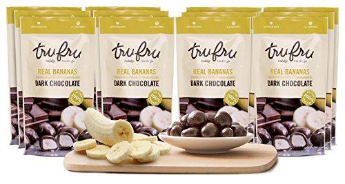 Tru Fru Dark Chocolate Dipped Freeze-Dried Fruit, 12-Pack Grab & Go, Banana by Tru Fru