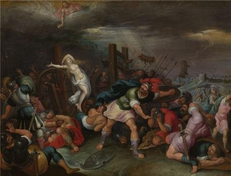 [High Quality Polyster Canvas ,the Beautiful Art Decorative Prints On Canvas Of Oil Painting 'Hieronymus Francken II - The Martyrdom Of Saint Catherine Of Alexandria, 17th Century', 8x10 Inch / 20x27 Cm Is Best For Living Room Decor And Home Decor And] (Costumes Halloween Yahoo)