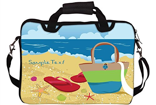 Snoogg Sommer Illustration Gedruckt Notebook-Tasche mit Schultergurt 15 bis 15,6 Zoll