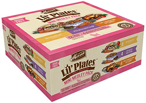 Merrick Lil' Plates Small Breed Grain Free Mini Medley Pack Wet Dog Food, 3.5 oz., Case of 12 Cups
