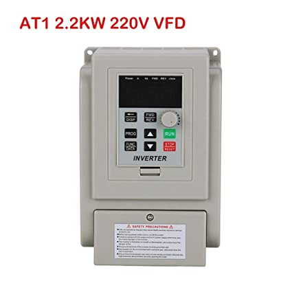 Mysweety Single Phase VFD Drive VFD Inverter Professional Variable  Frequency Drive 2 2KW AC220V 12A for Spindle Motor Speed Control  (VFD-2 2KW) ¡