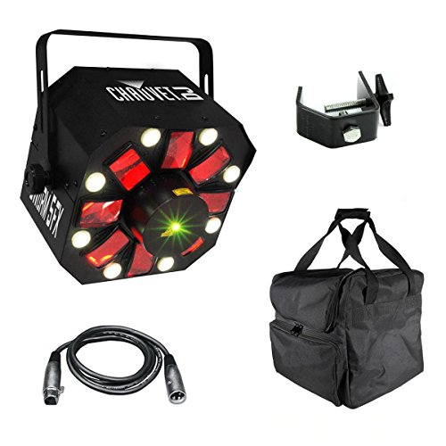 Chauvet SWARM 5 FX RGBAW LED DJ Derby Laser Light + Travel Bag + Cable + ()