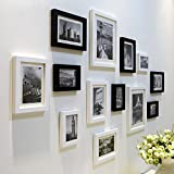 ZYANZ Modern Fashion Photo Wall, Black And White Pine Rectangle (13 Packs)