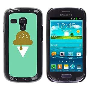 YOYOYO ( NO PARA S3 i9300 ) Smartphone Protección Defender Duro Negro Funda Imagen Diseño Carcasa Tapa Case Skin Cover Para Samsung Galaxy S3 MINI I8190 I8190N - rosas pintado de la vendimia de flores de primavera