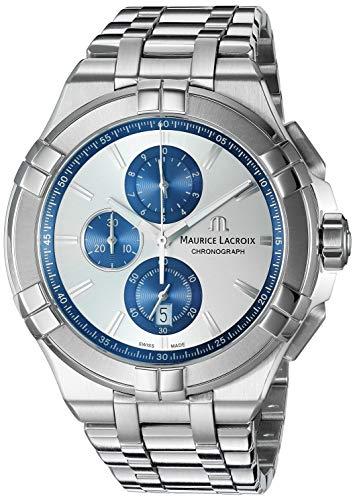 Maurice Lacroix Men's Aikon Swiss-Quartz Watch with Stainless-Steel Strap, Silver (Model: AI1018-SS002-131-1) - Maurice Lacroix Quartz