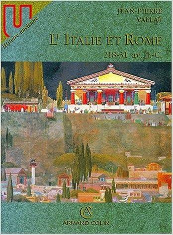 Livre gratuits en ligne L'ITALIE ET ROME. : 218-31 av. J.C. pdf