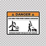 wind turbine window decal - Decals Sticker Funny Sign Stay Away From Wind Turbine Generator