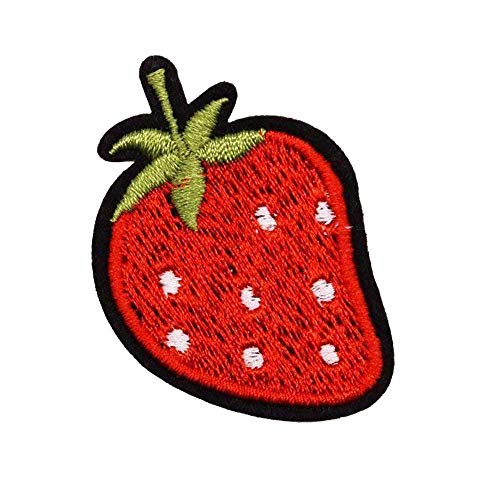 U-Sky Sew or Iron on Patches - Strawberry Patch - Pack of 3pcs