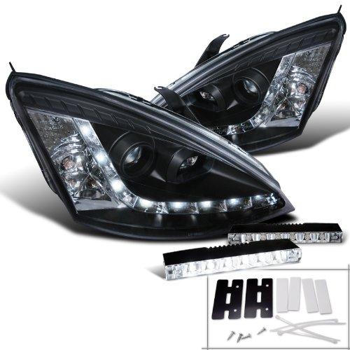 Focus Black Projector Headlight Bumper