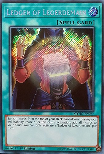 Yu-Gi-Oh! – Ledger of Legerdemain – CYHO-EN067 – Secret Rare – 1st Edition – Cybernetic Horizon