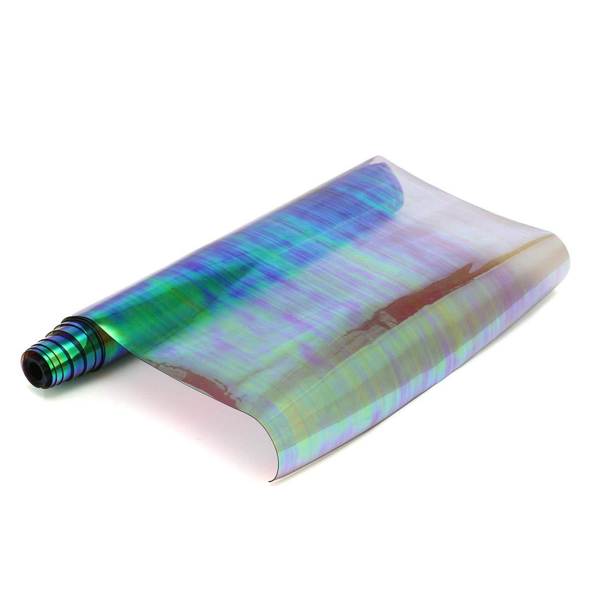 olografico roll Clear pellicola a specchio con copertura in vinile grafiche tessuto per strumento artigianale in pelle Tessuto olografico film Faway 2095/cm in PVC grigio
