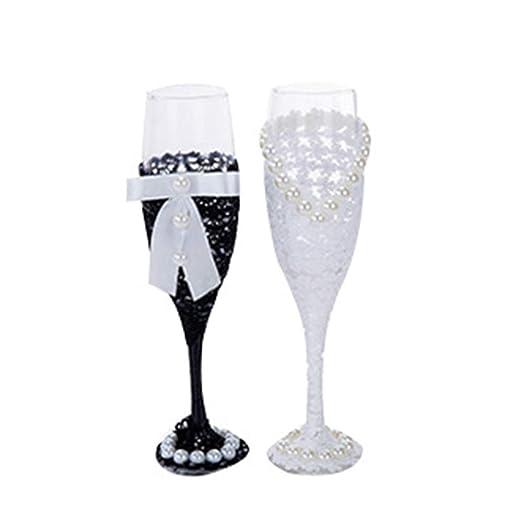 Compra NewPointer - Juego de copas de vino para novia y ...