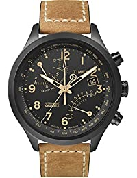 Men's T2N700 Intelligent Quartz Fly-Back Chronograph Brown Leather Strap Watch