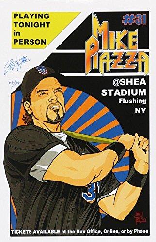 S @ SHEA STADIUM 11x17 ARTIST BRIAN KONG SIGNED LITHO PRINT - Autographed MLB Art (Autographed Shea Stadium)