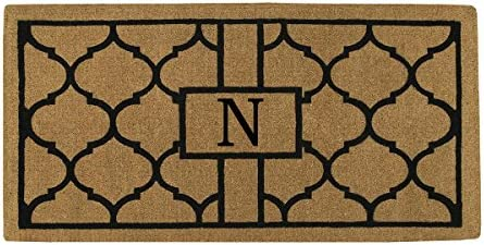 Home More 180083672N Pantera 3 X 6 Extra-Thick Monogrammed Doormat Letter N