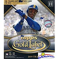 $74 » 2019 Topps Gold Label Baseball Factory Sealed HOBBY Box with FRAMED AUTOGRAPH Card & 4 Parallels! Look for Autos of Pete Alonso, Sandy…