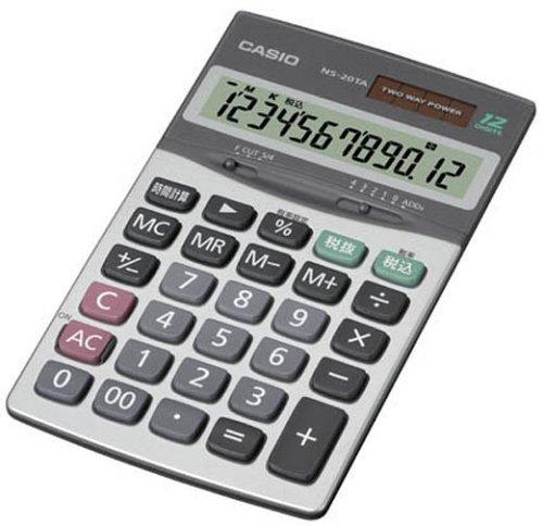 カシオ パーソナル電卓 時間税計算 大判手帳タイプ 12桁 NS-20TA-N B0000C99X6