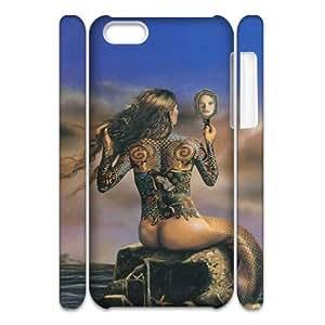 iphone 4/4s iphone 4/4s The little mermaid 3D Art Print Design Phone Back Case Custom Hard Shell Protection AQ073351