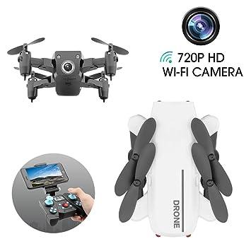 LJXWXN Drone con Cámara, 720 HD Mini Drone Plegable con App WiFi ...