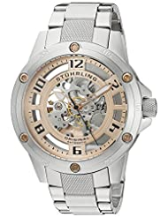 Stuhrling Original Men's 795.03 Leisure Zeppelin Engine Elite Analog Display Automatic Self Wind Silver Watch
