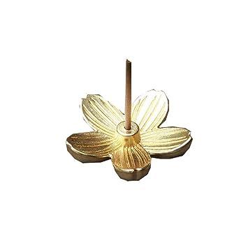 Sakura Quemador de Incienso Aleación Flores Incienso Estufa Adorno de la casa de té Buddha Coil