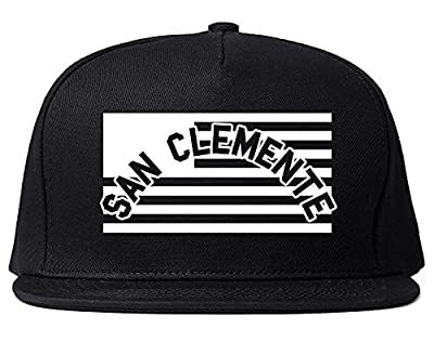 City Of San Clemente with United States Flag Snapback Hat Cap