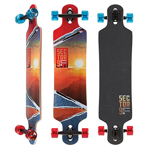 Sector 9 Midnight Fault Line 39 Inch Maple Top Mount Longboard for Carving, Commuting, and Freeride
