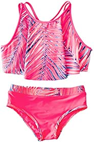 AS ROSE RICH Girls Bathing Suits 2T-6X - 2 Piece Swimsuits for Toddler Teen Girls- Summer Beach Sports Swimsui