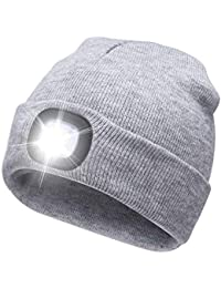 USB Rechargeable LED Beanie Cap, Ultra Bright Lighting...